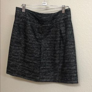Black and silver Loft Outlet skirt